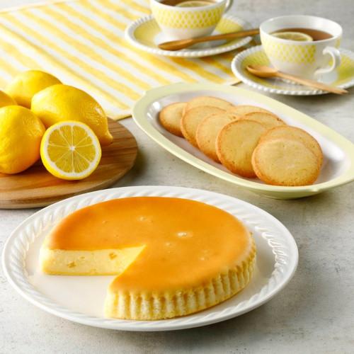 レモンチーズケーキとクッキーのセット
