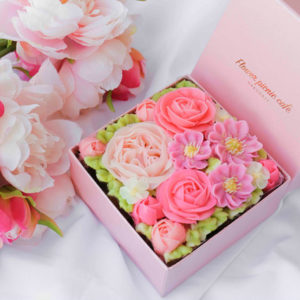 ボックスフラワーケーキ<Blossom Pink>
