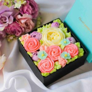 ボックスフラワーケーキ<Spring Colors>