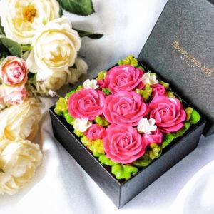 ミニボックスフラワーケーキ Elegant Pink