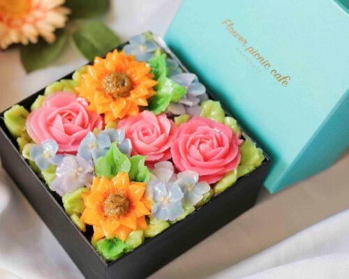 【Summer Jewel】ボックスフラワーケーキ
