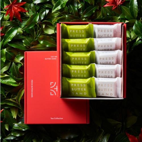 バターサンド2種詰合せ〈宇治抹茶〉10個入 Tea Collection